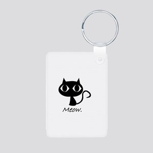 Meow. Aluminum Photo Keychain
