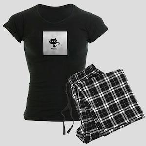 Meow. Women's Dark Pajamas