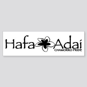 Hafa Adai from Chamorro Pride Sticker (Bumper)