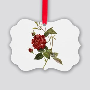 Red Rose Picture Ornament