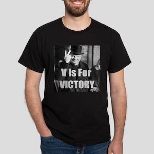 Sir Winston Churchill V Is For Victory Meme T-Shir