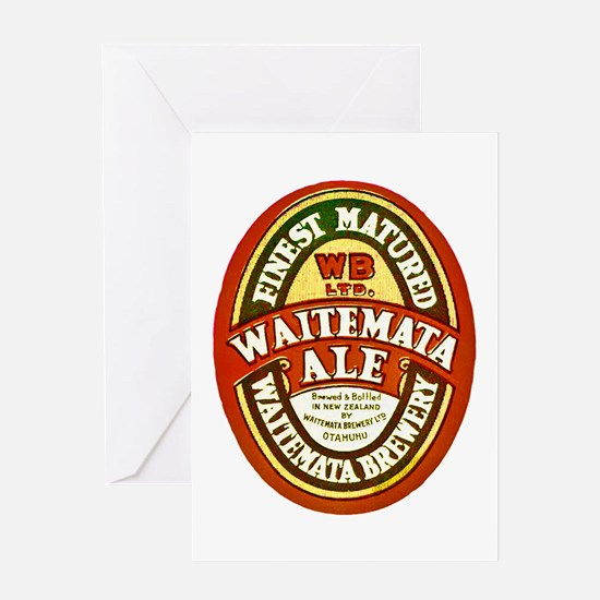 New Zealand Beer Label 8 Greeting Card