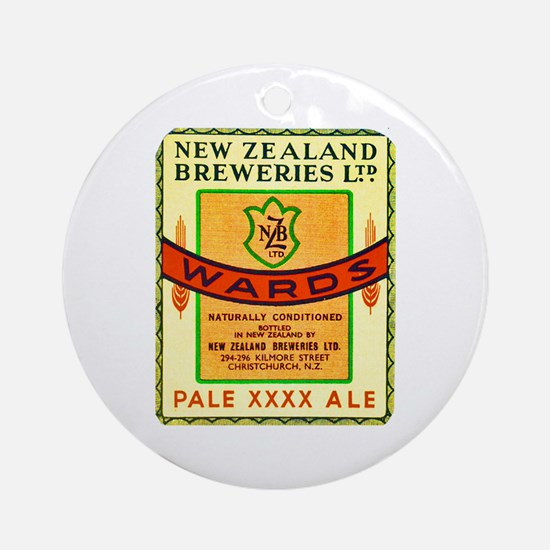 New Zealand Beer Label 3 Ornament (Round)