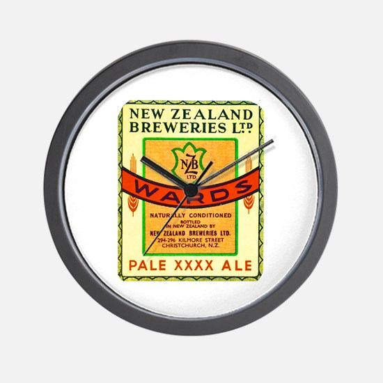 New Zealand Beer Label 3 Wall Clock