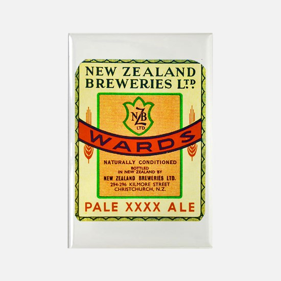 New Zealand Beer Label 3 Rectangle Magnet