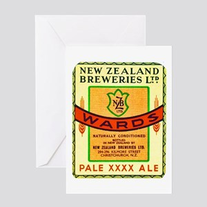 New Zealand Beer Label 3 Greeting Card