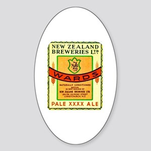 New Zealand Beer Label 3 Sticker (Oval)