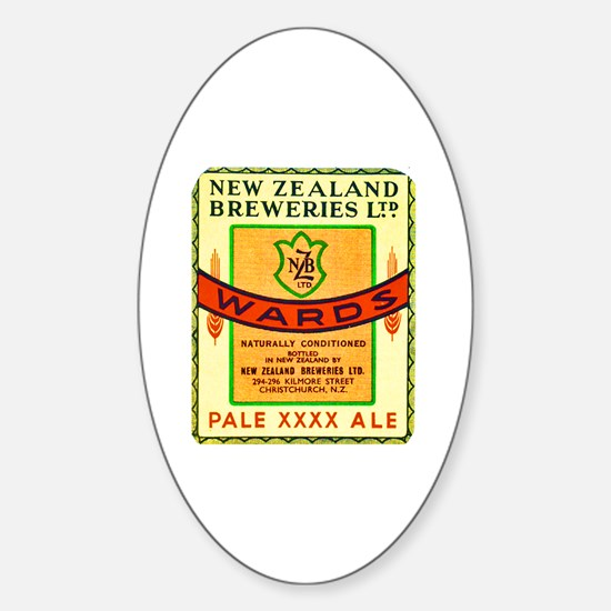New Zealand Beer Label 3 Sticker (Oval)