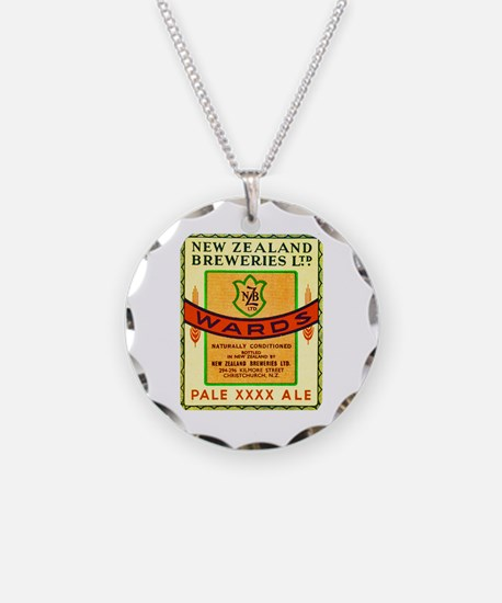 New Zealand Beer Label 3 Necklace Circle Charm