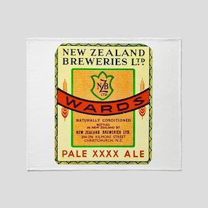 New Zealand Beer Label 3 Throw Blanket