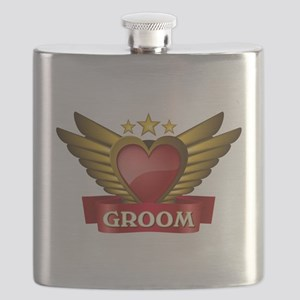 GOLD WING GROOM Flask