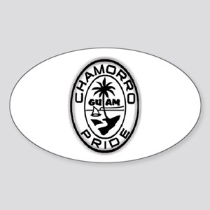 Chamorro Pride Logo Sticker (Oval)