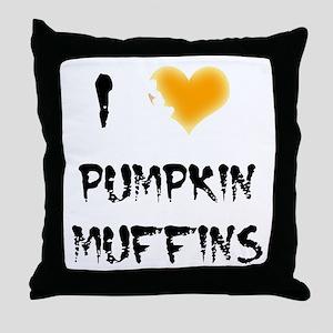 I Love Pumpkin Muffins Throw Pillow