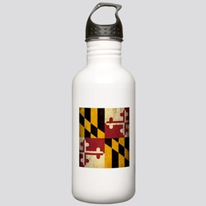 Grunge Maryland Flag Stainless Water Bottle 1.0L