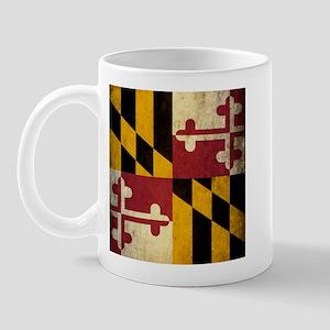 Grunge Maryland Flag Mug