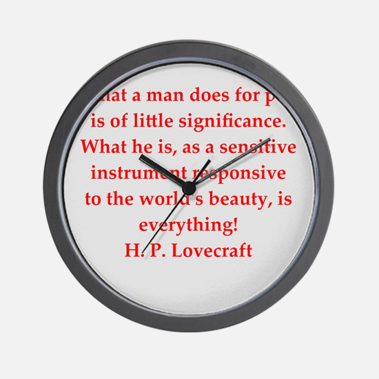lovecraft13.png Wall Clock