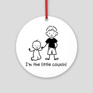 Little Cousin - Stick Figures Ornament (Round)