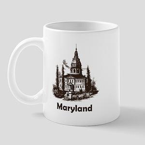 Vintage Maryland State House Mug
