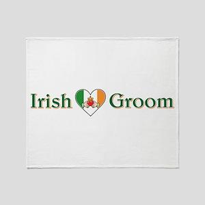 IRISH GROOM Throw Blanket