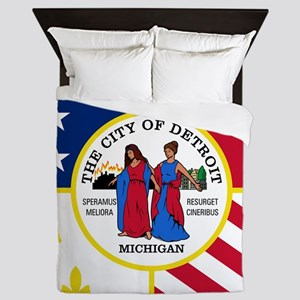 Detroit Flag Queen Duvet