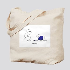 Itchy Lamb Knitting Tote Bag