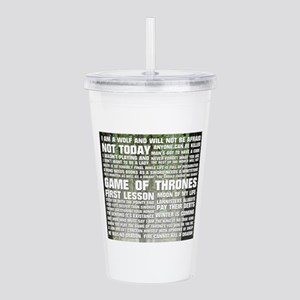 Game Of Thrones Quotes Acrylic Double-wall Tumbler