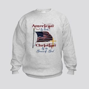 American by Birth Christian By Grace of God Kids S