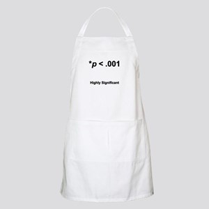 Highly statistically significant at p < .001 Apron