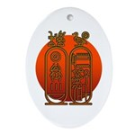 Hieroglyph Tutankhamun Ornament (Oval)