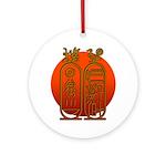 Hieroglyph Tutankhamun Ornament (Round)