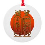 Hieroglyph Tutankhamun Round Ornament