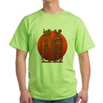 Hieroglyph Tutankhamun Green T-Shirt