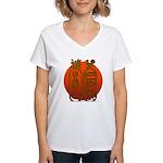 Hieroglyph Tutankhamun Women's V-Neck T-Shirt