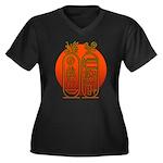 Hieroglyph Tutankhamun Women's Plus Size V-Neck Da