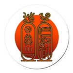 Hieroglyph Tutankhamun Round Car Magnet