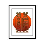 Hieroglyph Tutankhamun Framed Panel Print