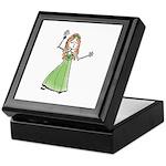 Green Dress Dancing Girl Keepsake Box