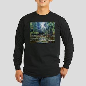 Monet Bridge Over Water Lily Pond Long Sleeve Dark