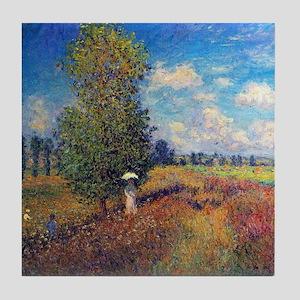 Monet Poppy Field In Summer Tile Coaster