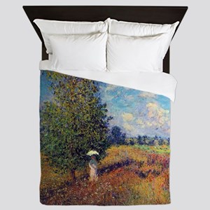 Monet Poppy Field In Summer Queen Duvet