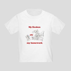 My Kraken ate my homework Toddler T-Shirt