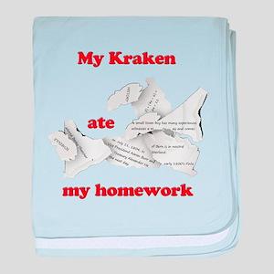My Kraken ate my homework baby blanket