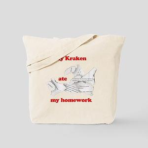 My Kraken ate my homework Tote Bag