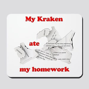 My Kraken ate my homework Mousepad