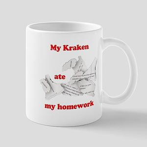 My Kraken ate my homework Mug