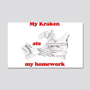 My Kraken ate my homework 20x12 Wall Decal
