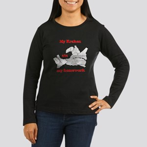 My Kraken ate my homework Women's Long Sleeve Dark