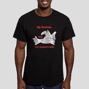 My Kraken ate my homework Men's Fitted T-Shirt (da