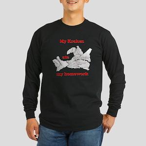 My Kraken ate my homework Long Sleeve Dark T-Shirt