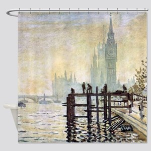 Claude Monet Westminster Bridge Shower Curtain